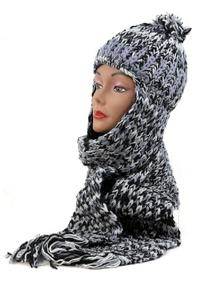 NYFASHION101 Nepal Wool Fleeced Hand Knit Ski Trooper Hat