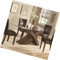 Nessa Large X-Base Dining Table with Glass Top