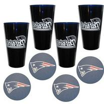 New England Patriots Plastic Pint Glass Set