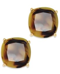 kate spade new york Earrings, 12k Gold-Plated Small Square