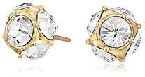 kate spade new york Earrings, 12k Gold-Plated Crystal Stud