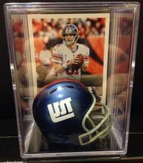 New York Giants NFL Helmet Shadowbox w/ Eli Manning card