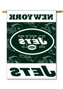NFL New York Jets 2-Sided 28-by-40-Inch House Banner