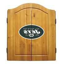 New York Jets NFL Dart Board w/Cabinet