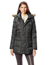 Kenneth Cole New York Women's Matte Satin Short Down Coat,