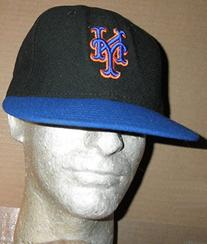 NEW YORK METS GAME USED #27 BLACK & BLUE CAMBRIDGE PLACE CAP