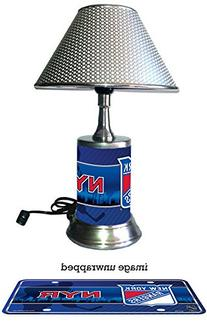 New York Rangers Lamp with chrome shade