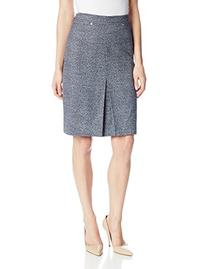 Jones New York Women's Rivet Trimmed A-Line Skirt, Navy/