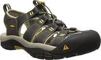 KEEN Men's Newport H2 Sandal, Raven/Aluminum, 16 M US