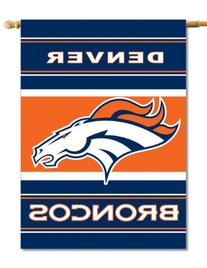 NFL Denver Broncos 2-Sided 28-by-40-Inch House Banner