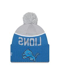 New Era Men's NFL 2015 Detroit Lions Sport Knit Hat Blue/