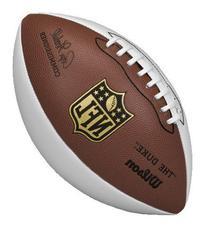 Wilson NFL Autograph Football, Brown/White