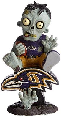 NFL Baltimore Ravens Sitting On Logo Zombie Figurine, Black