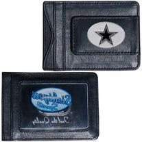 NFL Dallas Cowboys Leather Money Clip Cardholder