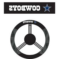 NFL Dallas Cowboys Steering Wheel Cover, Black