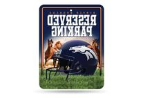 NFL Denver Broncos Hi-Res Metal Parking Sign