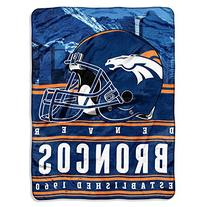 The Northwest Company NFL Denver Broncos Stacked Silk Touch