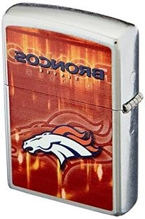 Zippo NFL Denver Broncos Street Chrome Pocket Lighter
