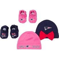 NFL New England Patriots 2 Baby Caps and 2 Booties Set, 0-6