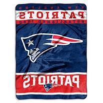 NFL New England Patriots Plush Raschel Blanket, 60 x 80-Inch