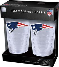 NFL New England Patriots Slimline Tumbler with Patch 2Piece