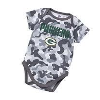 NFL Green Bay Packers Girls Camo Bodysuit, 3-6 Months, Gray