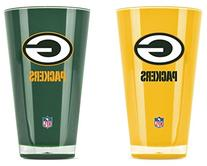 NFL Green Bay Packers 20oz Insulated Acrylic Tumbler Set of