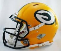 Riddell Green Bay Packers Revolution Speed Helmets