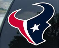 NFL Houston Texans Perfect Cut Color Decal, 8