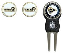 NFL St. Louis Rams Signature Divot Tool and 2 Extra Markers