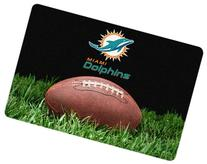 NFL Miami Dolphins Classic Football Pet Bowl Mat, Large