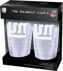 NFL New York Giants Slimline Tumbler with Patch 2Piece Set,