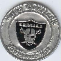 NFL Oakland Raiders Challenge Coin Poker Guard with black