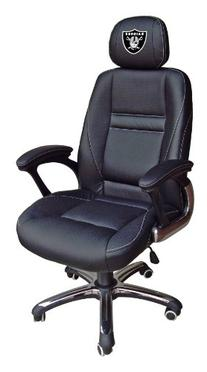 NFL Oakland Raiders Leather Head Coach Office Chair