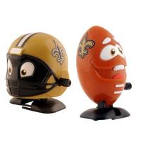 NFL New Orleans Saints Wind Up Football and Helmet, Pack of