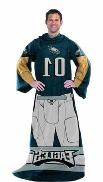 NFL Philadelphia Eagles Uniform Huddler Blanket With Sleeves