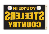 NFL Pittsburgh Steelers County 3x5' Flag