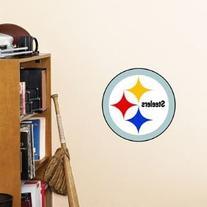 NFL Pittsburgh Steelers Logo Fathead Wall Decal, 15 x 12-