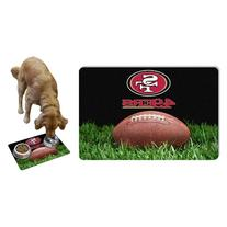 NFL San Francisco 49ers Classic Football Pet Bowl Mat, Large