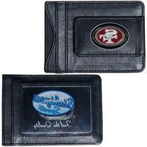 NFL San Francisco 49ers Leather Money Clip Cardholder
