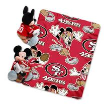 NFL San Francisco 49ers Mickey Mouse Pillow with Fleece