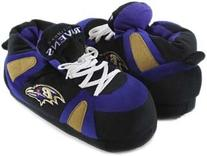 Comfy Feet NFL Sneaker Boot Slippers - Baltimore Ravens