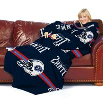 NFL Tennessee Titans Comfy Throw Blanket with Sleeves,