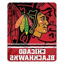 NHL Chicago Blackhawks Fade Away Printed Fleece Throw, 50-