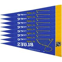 "NHL St. Louis Blues Blue 8-Pack 4"" x 9"" Mini Pennant Set"