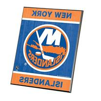 "NHL New York Islanders Wood Easel Sign, 8 x 10"", Team Color"