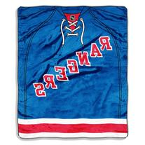 NHL New York Rangers Jersey Royal Plush Raschel Throw