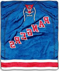 Northwest NHL New York Rangers Raschel Throws BLUE/RED/WHITE