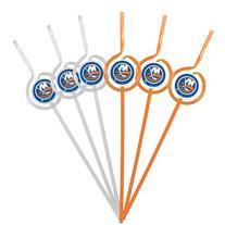 NHL New York Islanders Six Pack Team Sip Sport Straws