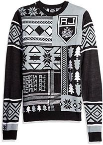NHL Los Angeles Kings Patches Ugly Sweater, Black, X-Large